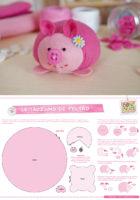 Выкройка свиньи из фетра