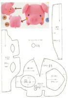 схема объемной свинки из фетра