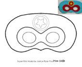 Шаблон маски из фетра Супергерои