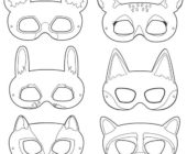 Шаблон маски из фетра Животные