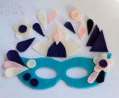 Выкройка фетровой карнавальной маски