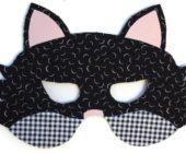 Шаблон маски из фетра Кот