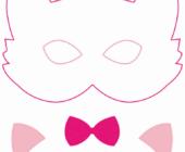 Выкройка фетровой маски кошечка