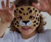 Шаблон маски из фетра Леопард
