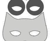Шаблон маски из фетра Сова