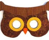 Шаблон фетровой маски Сова