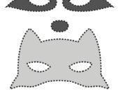 Шаблон маски из фетра Енот
