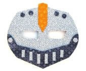 Шаблон маски из фетра Робот