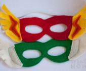 Шаблон маски из фетра Супергерой