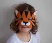 Шаблон маски из фетра Тигр