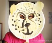 Новогодние маски для детей из бумажных тарелок