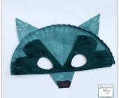 Маски животных из бумажных тарелок