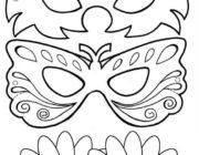 Новогодние маски-раскраски для детей