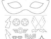 Маска Супер героя: раскрась и склей