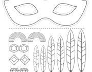 Маска индейца: раскрась и склей