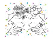 Шаблон новогодней маски животных