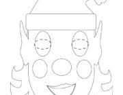 Шаблон Новогодней детской маски