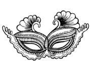 Карнавальная маска-раскраска