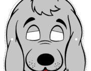 Новогодняя маска-картинка собака