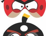Angry Bird маска-картинка