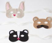 Фетровые маски животных для детей