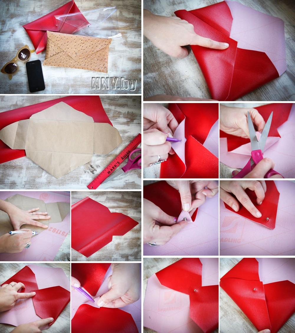 Подарки на Новый год своими руками: стильный клатч