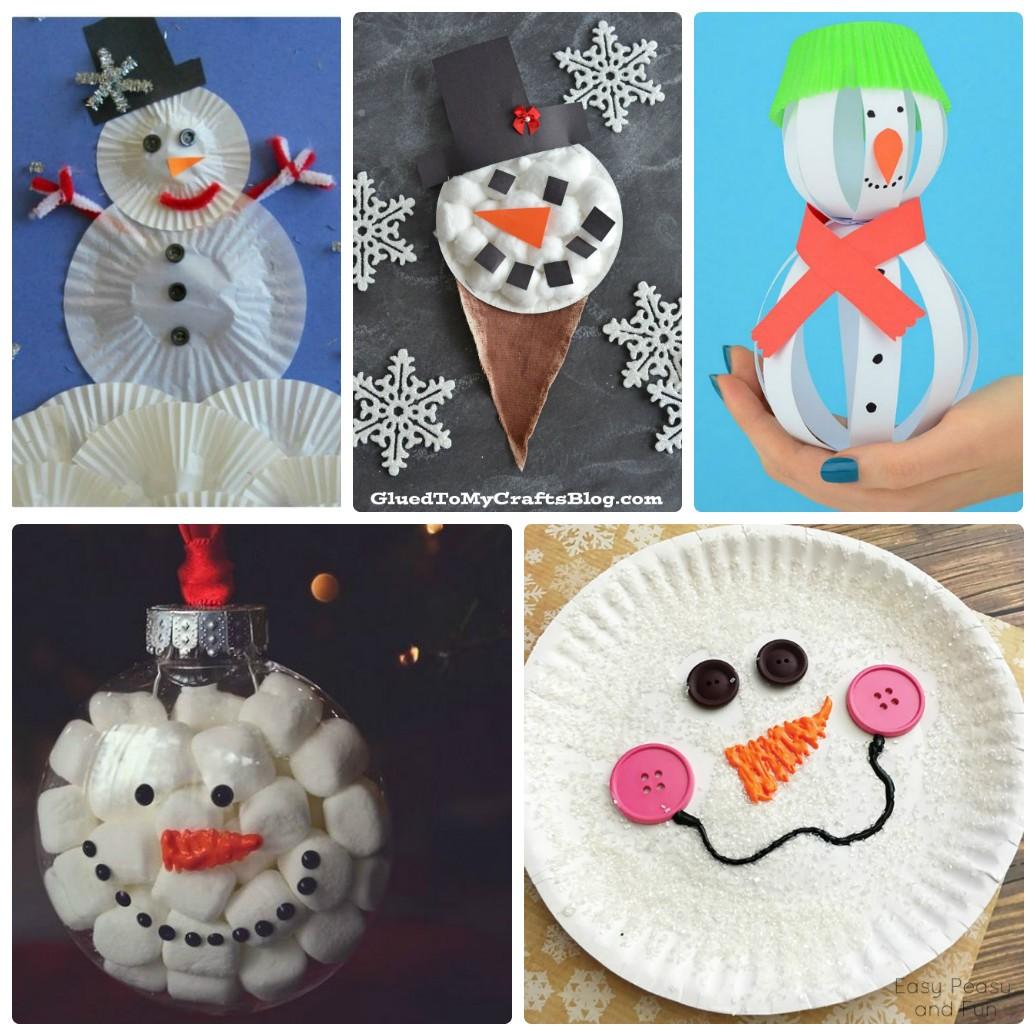Бумажный снеговик своими руками фото 621