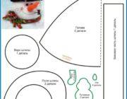 Фетровая выкройка: снеговик своими руками