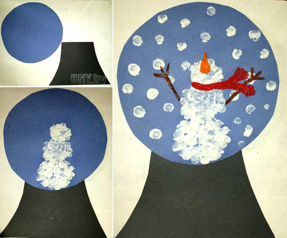 Бумажный снеговик своими руками