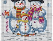 Новогодняя поделка снеговик