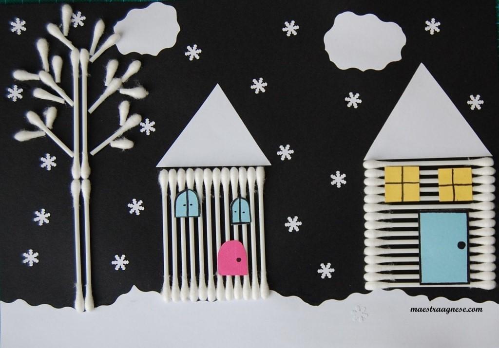 Новогодние поделки из ватных палочек, поделки на Новый год из подручных материалов