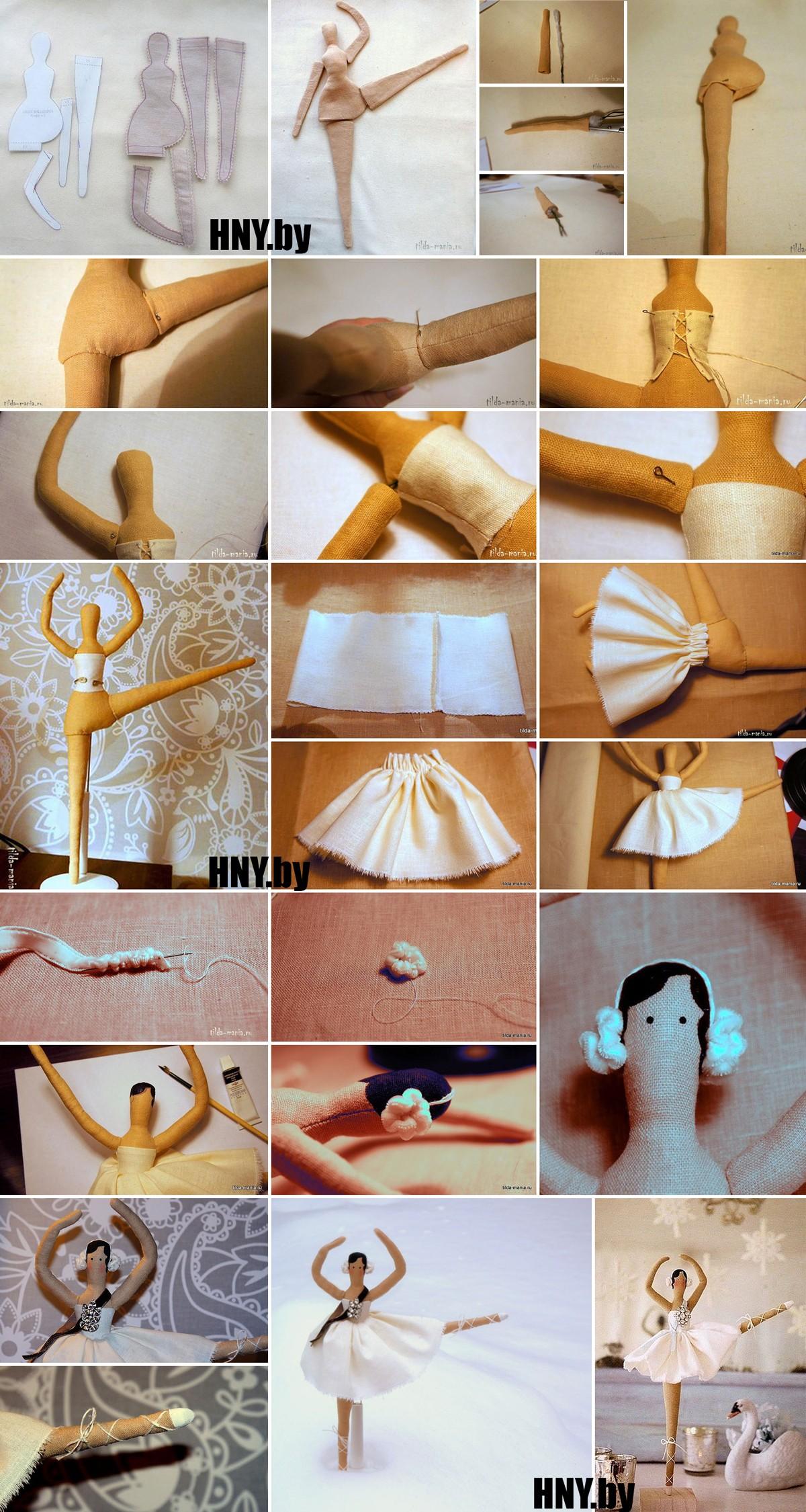 Новогодняя Тильда балерина: пошаговый мастер класс