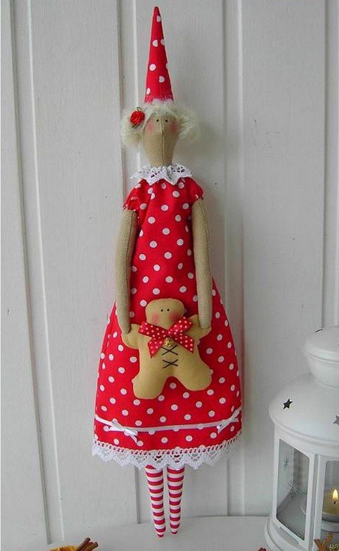 Новогодняя кукла тильда своими руками выкройки фото 247