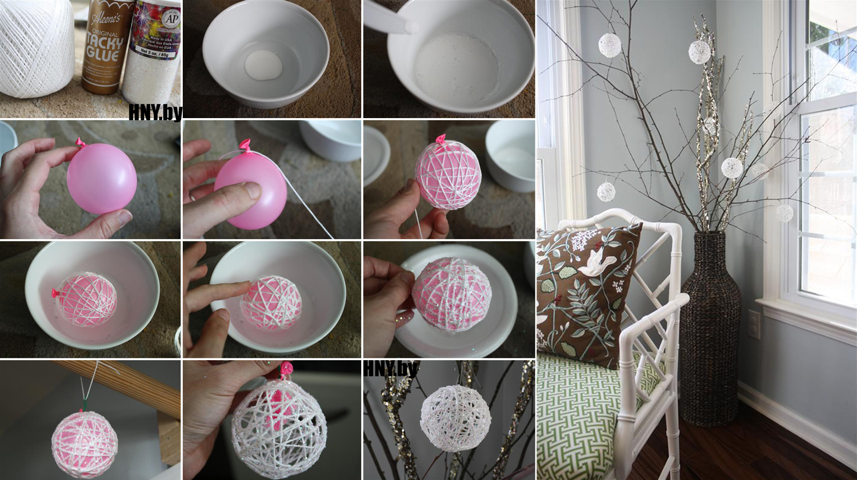 Шар из ниток своими руками: делаем шары-паутинки, МК с фото пошагово
