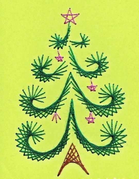 Открытки, новогодняя открытка в технике изонить