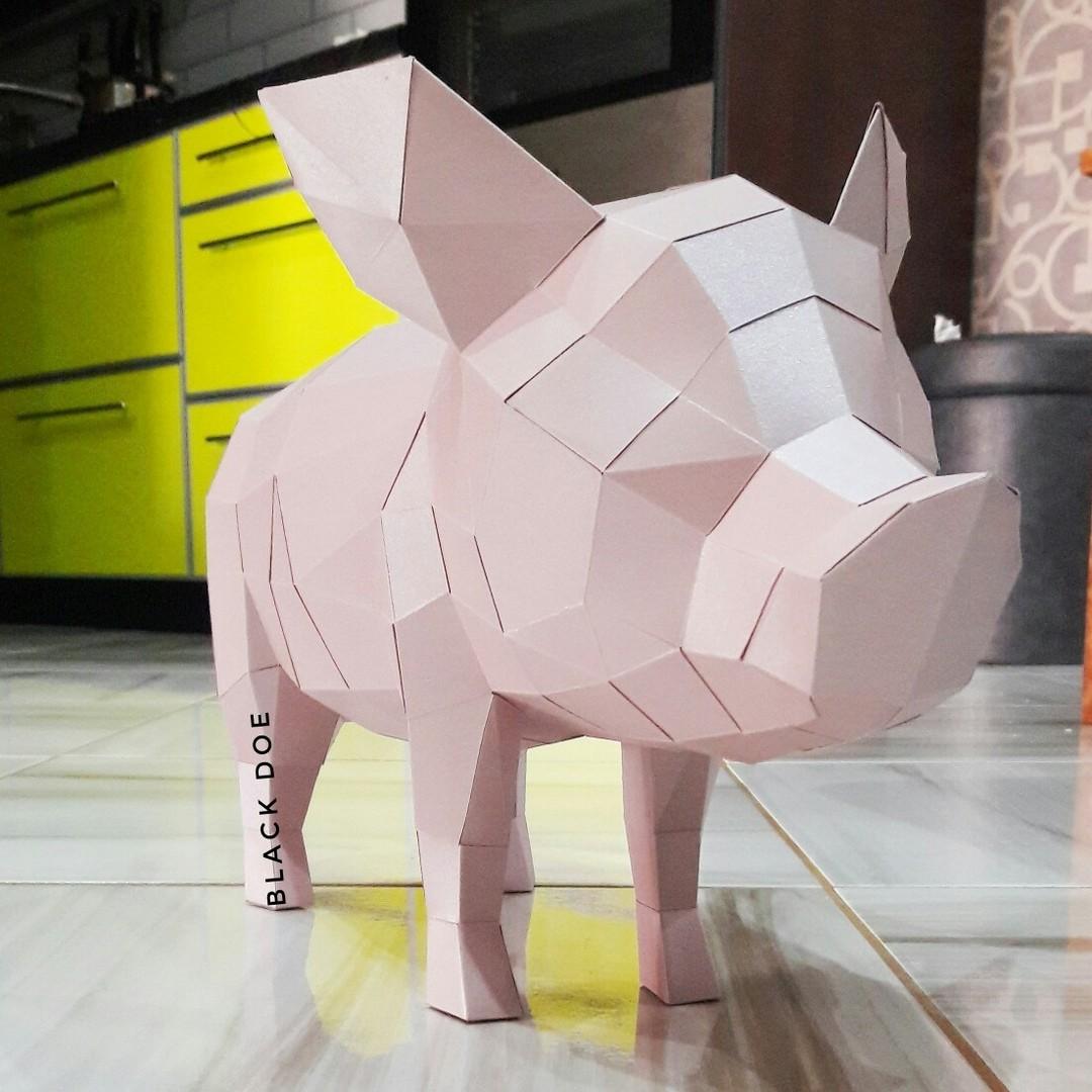 Полигональная модель Свинка