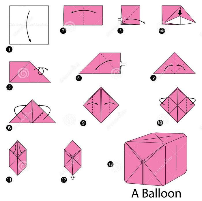 Объемный шар из бумаги оригами - пошаговая схема