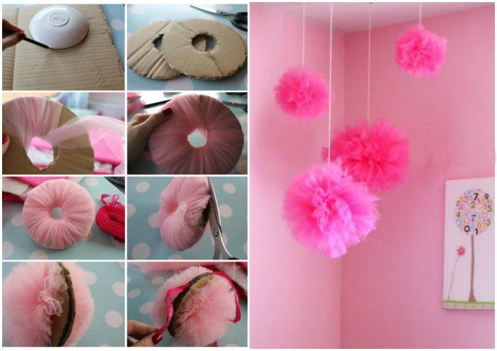 Как сделать шар из фатина своими руками