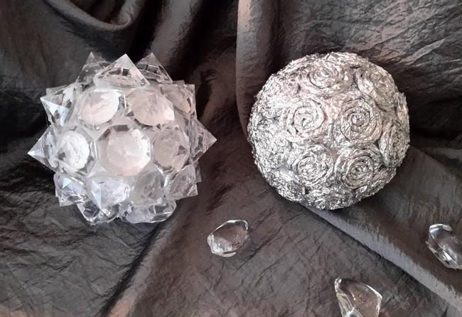 Новогодние шары своими руками из фольги